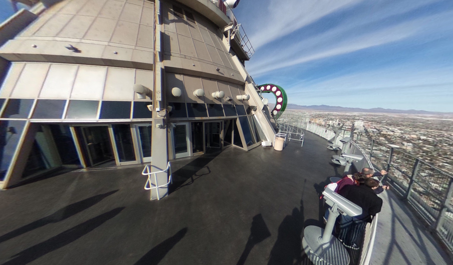 A scenic view of Las Vegas from The Stratosphere Tower's deck where the Big Shot is located