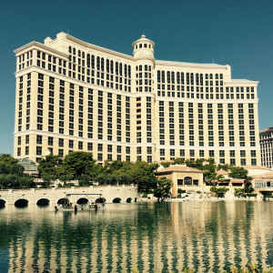 Facade of Bellagio hotel and casino in Las Vegas, Nevada