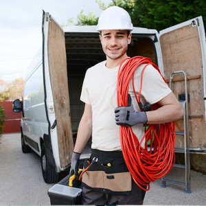 Man holding tool box and ropes offering local services across Nevada