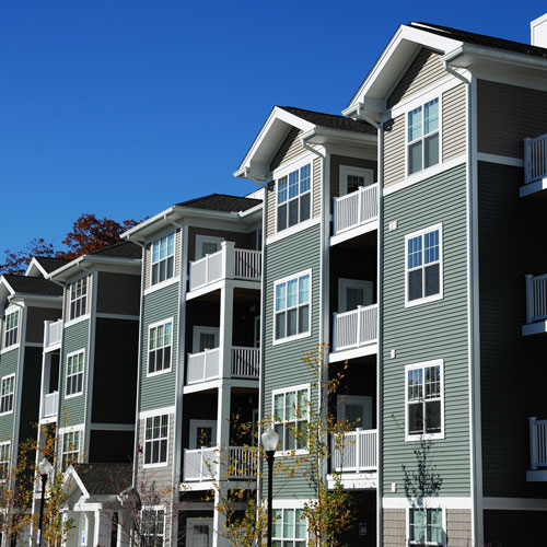 A row of apartment type houses in Rancho Oakey