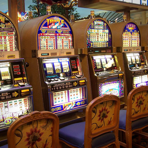 Slot machines in a casino in Summerlin, Las Vegas