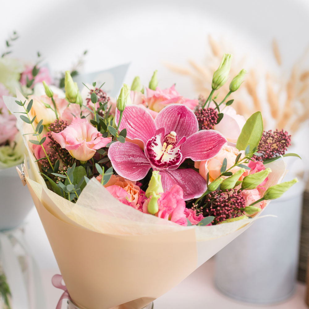 Bouquet being sold at flower shops.