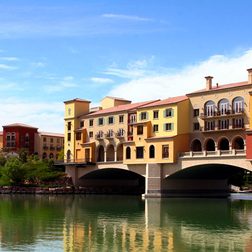 A building situated on the Lake Las Vegas