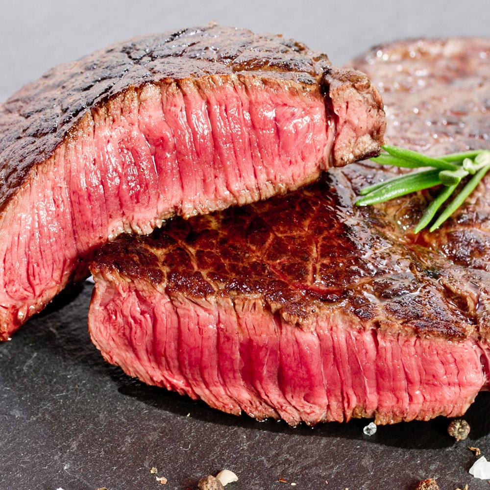 Best medium rare steak served hot in Las Vegas Nevada.