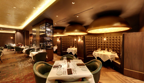 Reception desk of Andiamo Steakhouse in Las Vegas